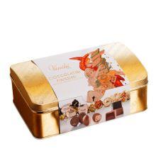 Конфеты шоколадные Venchi Cioccolatini Finissimi в золотой коробке-сундучке - 300 г (Италия)