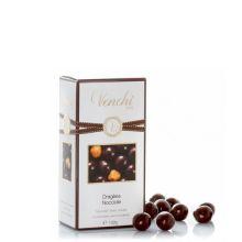 Конфеты драже Venchi Пьемонтский орех в темном шоколаде - 100 г (Италия)
