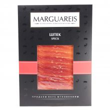 Ветчина сыровяленая свиной Окорок Шпек в нарезке Marguareis - 60 г (Россия)