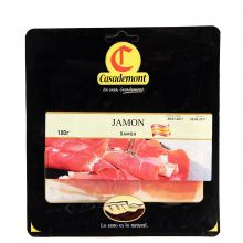 Ветчина сыровяленая свиной Окорок Хамон в нарезке Casademont  - 100 г (Россия)