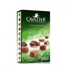 Конфеты шоколадные Cavalier ассорти Пралине со стевией без сахара - 100 г (Бельгия)