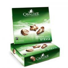 Конфеты шоколадные Cavalier Морские ракушки со стевией без сахара - 125 г (Бельгия)
