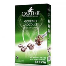 Набор шоколада Cavalier Горький Гурме 85% какао со стевией без сахара - 300 г (Бельгия)